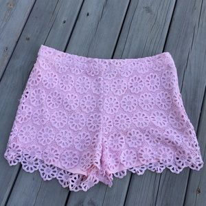 Forever 21 Lace Overlay Short Shorts Size L🌸